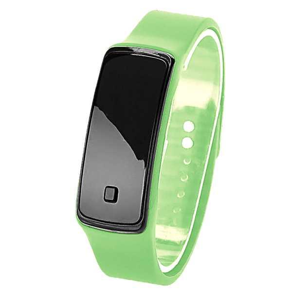 Digitális sportos zöld szilikon szíjas karóra  5ea5de4e53