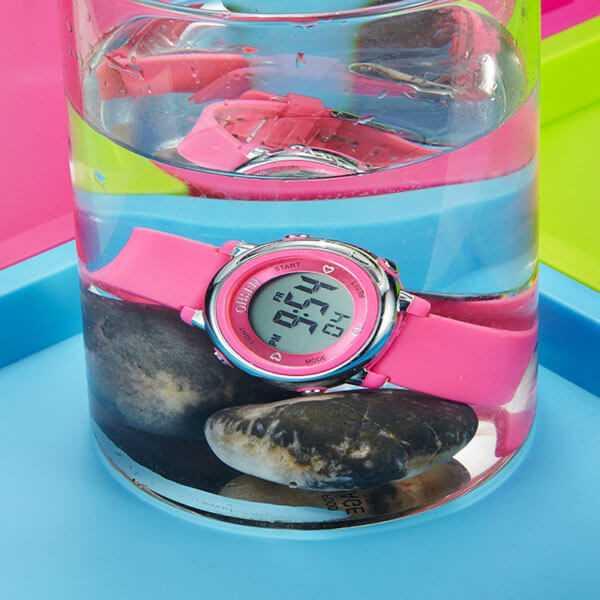 Ohsen vízálló rózsaszín szilikon szíjas karóra