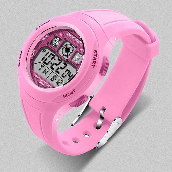 Sanda digitális rózsaszín gyerek karóra