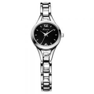 Kimio divatos trendi ezüst fekete női óra
