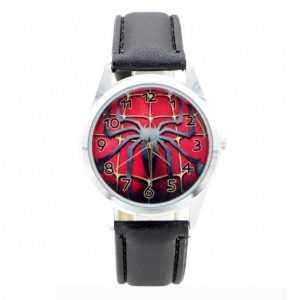 Pókember mintás szuperhős fekete piros gyerek karóra