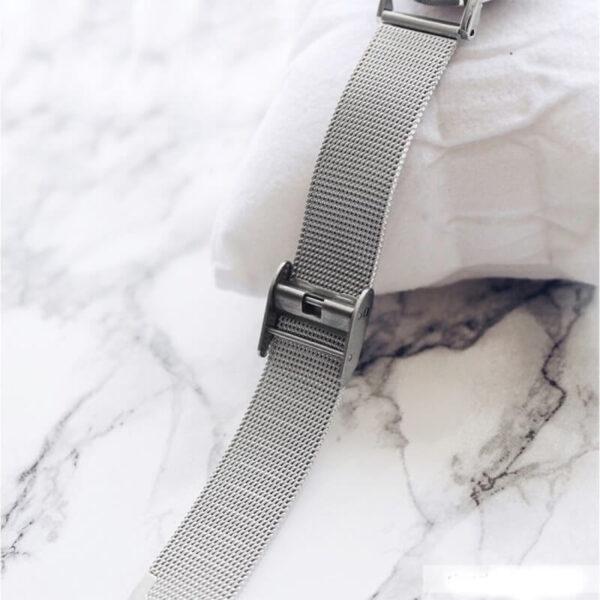 Shengke divatos letisztult ezüst színű női karóra